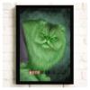"Постер з котом-супергероєм ""Халк"""