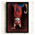 "Постер з котом-супергероєм ""Людина-павук"""