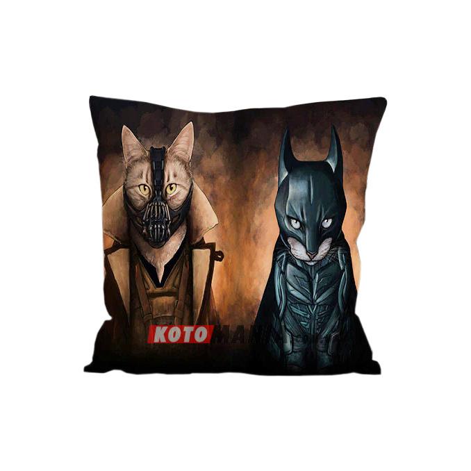 """Чохол для подушки кіт-супергерой """"Темний лицар"""""""