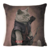 """Чохол для подушки кіт-супергерой """"Соколине око"""""""