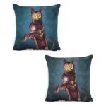 Декоративна подушка кіт-супергерой Залізна людина