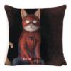 "Чохол для подушки кіт-супергерой ""Людина-павук"""