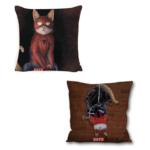 Декоративна подушка кіт-супергерой Людина-павук