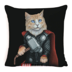 Декоративна подушка кіт-супергерой Тор