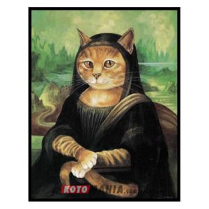 """Постер з котом """"Мона Ліза"""""""