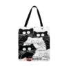 """Эко-сумка чёрно-белая """"Коты"""""""