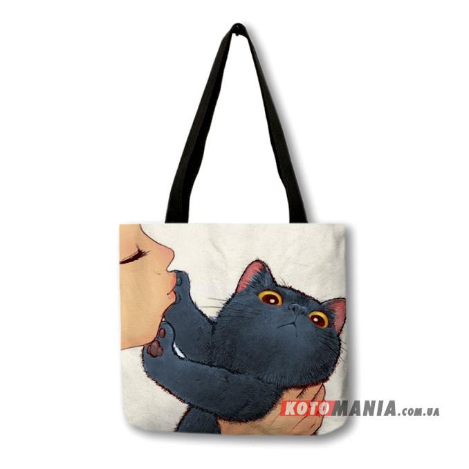 Еко-сумка Перська чорна кішка