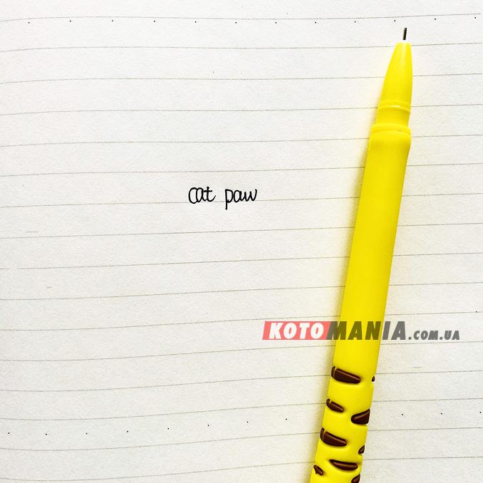 Гелевая ручка с котом «Лапка»