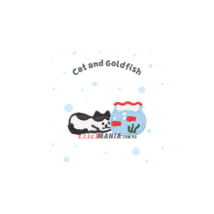 Термонашивка патч Кіт та золота рибка – Цікавий підводний світ