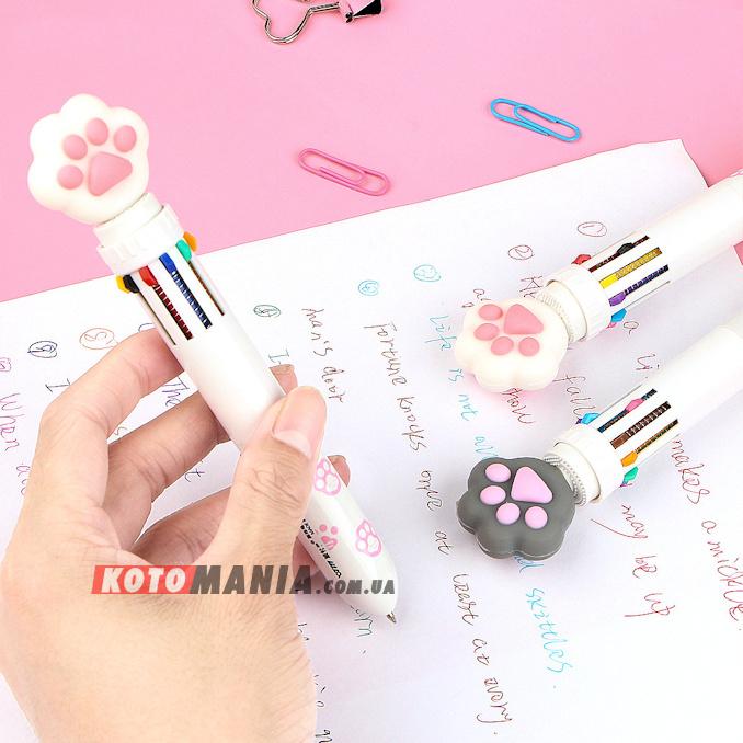 Ручка с котом «10 цветов»
