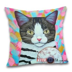 Чохол для подушки Кіт з пончиком