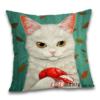 Чохол для подушки Кіт з омаром