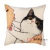 Декоративна подушка Чорно-білий кіт