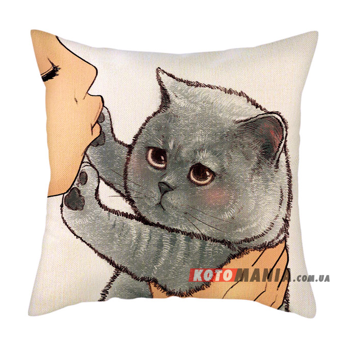 Декоративна подушка Британський короткошерстий кіт