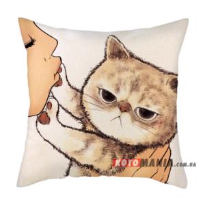 Декоративна подушка Екзотична короткошерста кішка