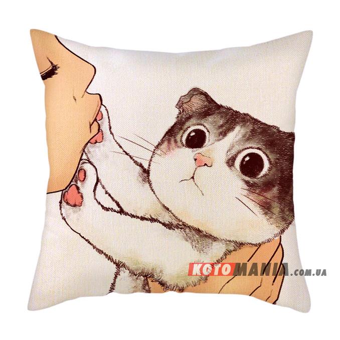 Декоративна подушка Шотландський висловухий кіт