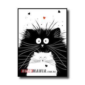 """Постер черно-белый """"Котенок"""""""