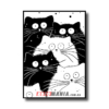 """Постер черно-белый """"Коты"""""""
