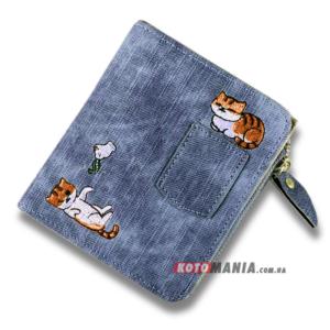 Портмоне жіноче з кишенею Два кота