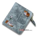 Портмоне жіноче з кишенею Два кота блакитний