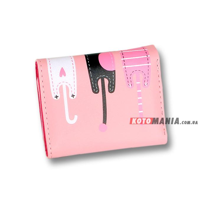 Портмоне жіноче Котяче тріо рожевий