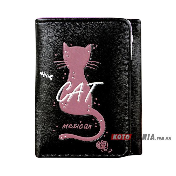 Портмоне жіноче Мексиканський кіт чорний