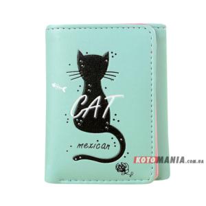 Портмоне жіноче Мексиканський кіт м'ятний