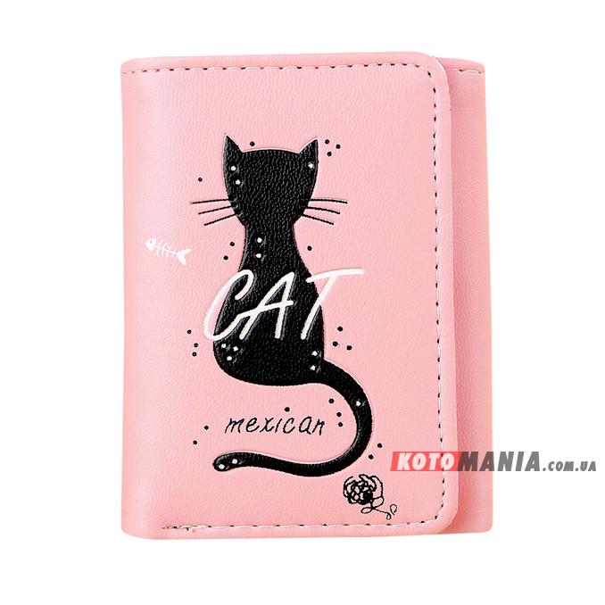 Портмоне жіноче Мексиканський кіт рожевий