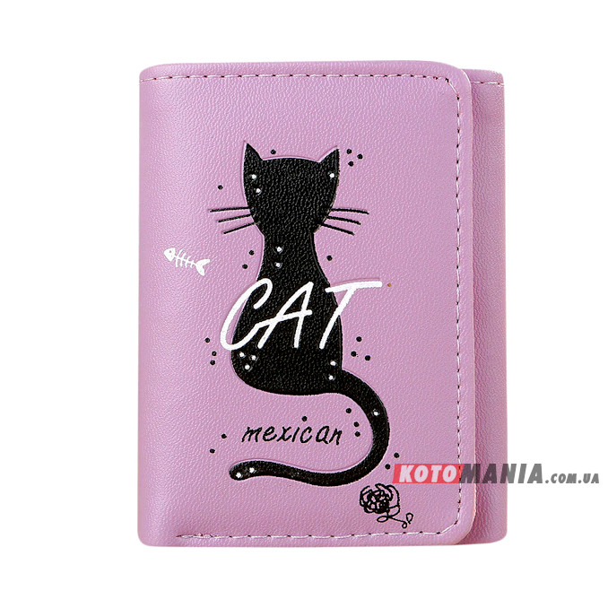 Портмоне жіноче Мексиканський кіт фіолетовий