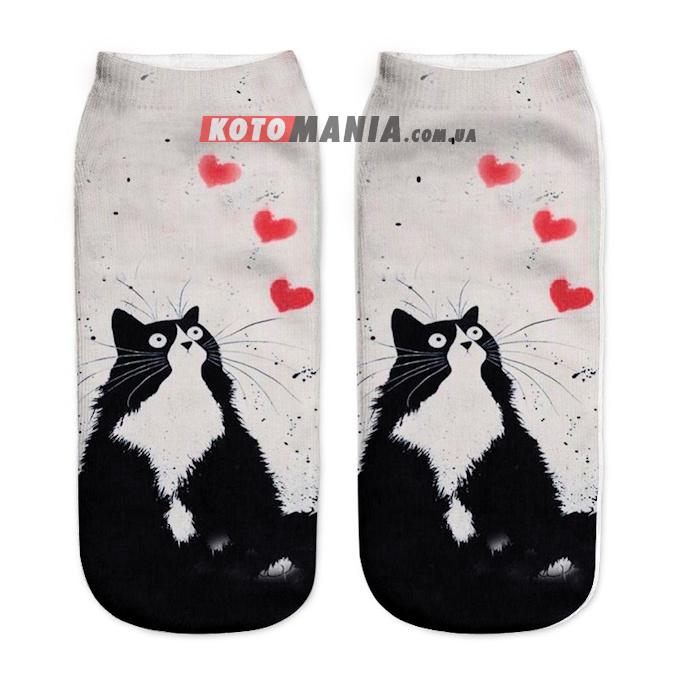"""Носки с котом """"Кот с сердечком"""""""