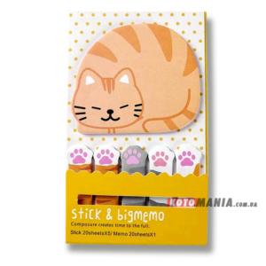 Набір стікерів Великий рудий кіт з лапками