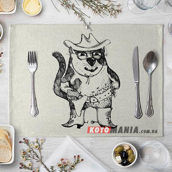 Підставка на стіл для сервірування Кіт-ковбой