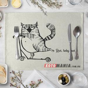 Підставка на стіл для сервірування Кіт на самокаті