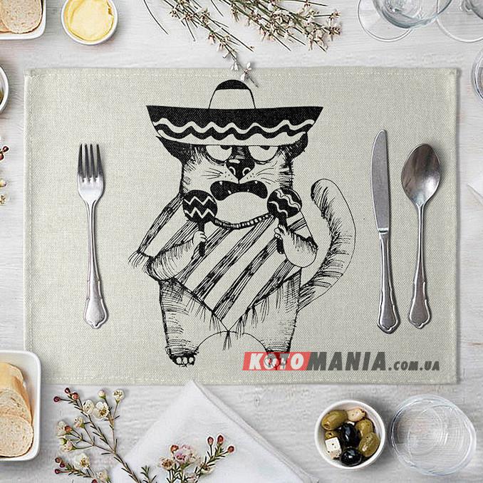 Підставка на стіл для сервірування Кіт з маракасами