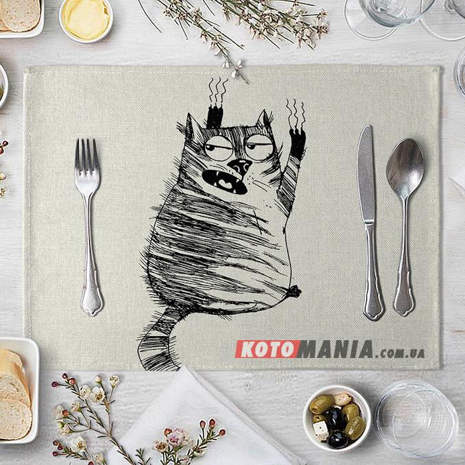 Підставка на стіл для сервірування Кіт Шкряб