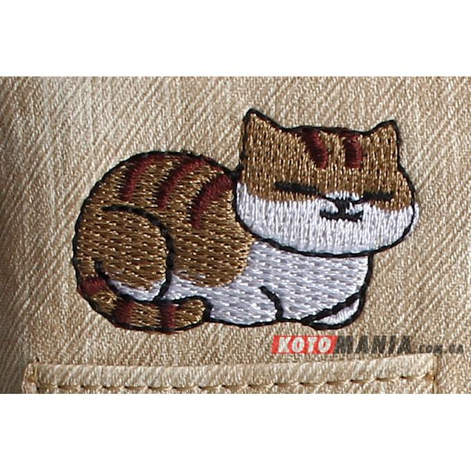 Гаманець жіночий з кишенею Два кота бежевий