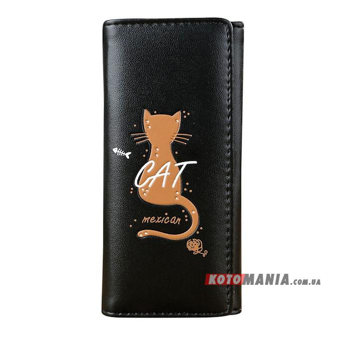 Гаманець жіночий Мексиканський кіт чорний