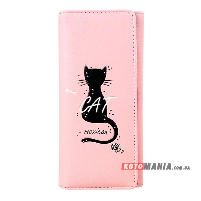 Гаманець жіночий Мексиканський кіт рожевий