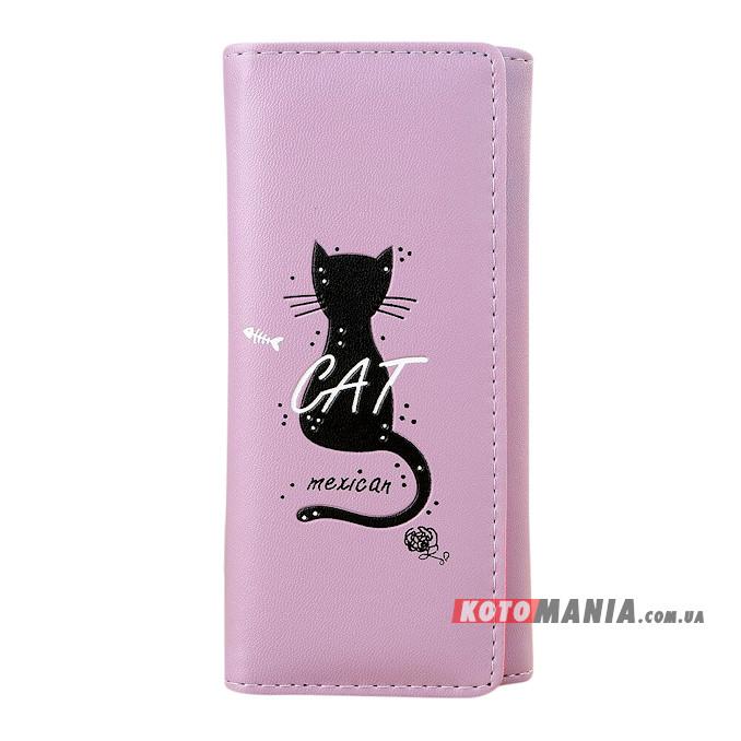 Гаманець жіночий Мексиканський кіт фіолетовий